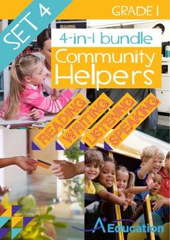 4-IN-1 BUNDLE- Community Helpers (Set 4) – Grade 1