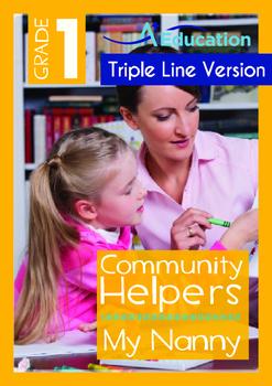 4-IN-1 BUNDLE - Community Helpers (Set 4) Grade 1 ('Triple-Track Writing Lines')