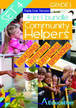 4-IN-1 BUNDLE - Community Helpers (Set 4) Grade 1 ('Triple