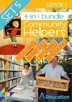 4-IN-1 BUNDLE- Community Helpers (Set 5) – Grade 1