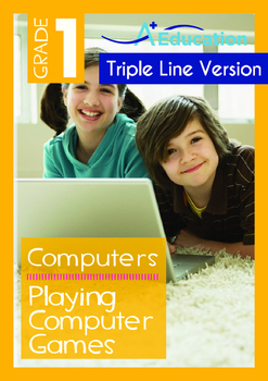 4-IN-1 BUNDLE- Computers (Set 1) - Grade 1 (with 'Triple-Track Writing Lines')