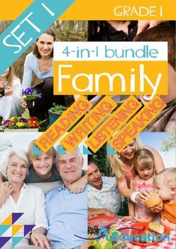 4-IN-1 BUNDLE- Family (Set 1) – Grade 1