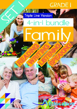 4-IN-1 BUNDLE- Family (Set 1) - Grade 1 (with 'Triple-Track Writing Lines')
