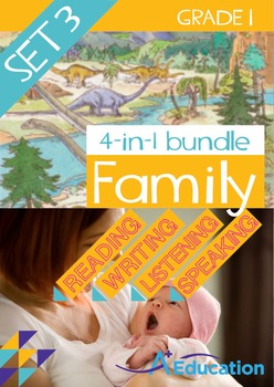 4-IN-1 BUNDLE- Family (Set 3) – Grade 1