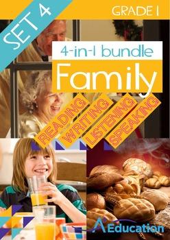 4-IN-1 BUNDLE- Family (Set 4) – Grade 1