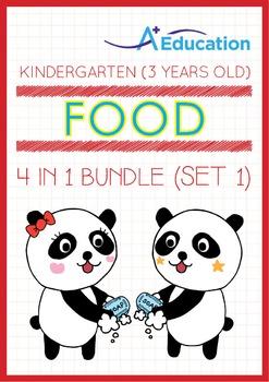 4-IN-1 BUNDLE - Food (Set 1) - Kindergarten, K1 (3 years old)