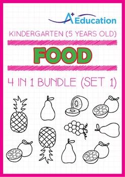4-IN-1 BUNDLE - Food (Set 1) - Kindergarten, K3 (5 years old)