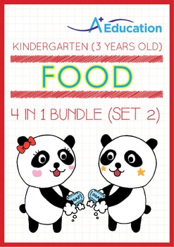 4-IN-1 BUNDLE - Food (Set 2) - Kindergarten, K1 (3 years old)