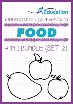 4-IN-1 BUNDLE - Food (Set 2) - Kindergarten, K2 (4 years old)