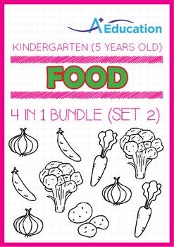 4-IN-1 BUNDLE - Food (Set 2) - Kindergarten, K3 (5 years old)