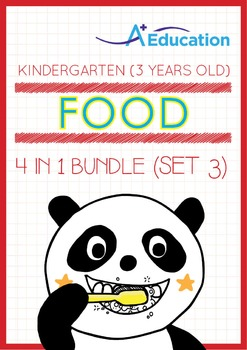 4-IN-1 BUNDLE - Food (Set 3) - Kindergarten, K1 (3 years old)