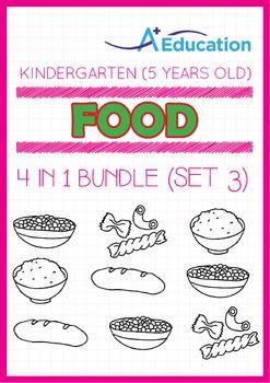 4-IN-1 BUNDLE - Food (Set 3) - Kindergarten, K3 (5 years old)