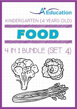 4-IN-1 BUNDLE - Food (Set 4) - Kindergarten, K2 (4 years old)