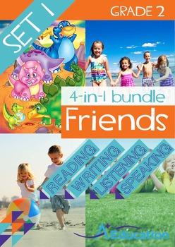 4-IN-1 BUNDLE- Friends (Set 1) - Grade 2