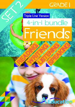 4-IN-1 BUNDLE- Friends (Set 2) - Grade 1 (with 'Triple-Track Writing Lines')