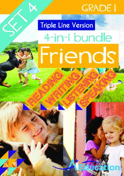 4-IN-1 BUNDLE- Friends (Set 4) - Grade 1 (with 'Triple-Tra