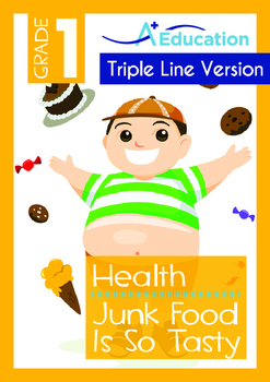 4-IN-1 BUNDLE- Health (Set 4) - Grade 1 (with 'Triple-Track Writing Lines')