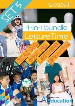 4-IN-1 BUNDLE - Leisure Time (Set 5) - Grade 1