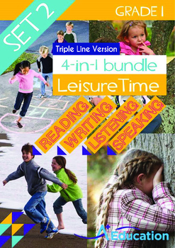 4-IN-1 BUNDLE- Leisure Time (Set 2) - Grade 1 (with 'Triple-Track Lines')