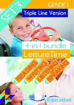 4-IN-1 BUNDLE- Leisure Time (Set 3) - Grade 1 (with 'Triple-Track Lines')