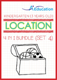 4-IN-1 BUNDLE - Location (Set 4) - Kindergarten, K1 (3 years old)