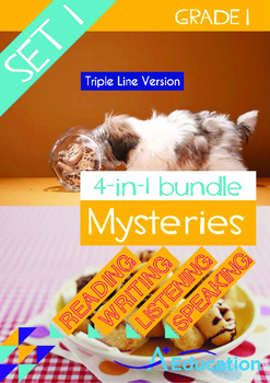 4-IN-1 BUNDLE- Mysteries (Set 1) - Grade 1 (with 'Triple-Track Lines')