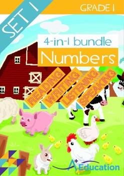 4-IN-1 BUNDLE- Numbers (Set 1) – Grade 1