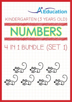 4-IN-1 BUNDLE - Numbers (Set 1) - Kindergarten, K1 (3 years old)