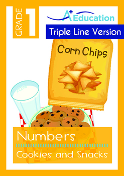 4-IN-1 BUNDLE- Numbers (Set 2) - Grade 1 (with 'Triple-Track Lines')