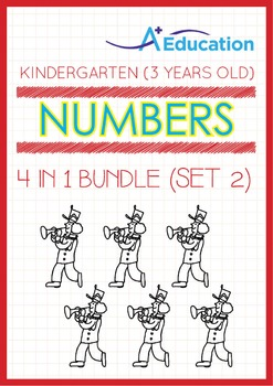 4-IN-1 BUNDLE - Numbers (Set 2) - Kindergarten, K1 (3 years old)