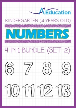 4-IN-1 BUNDLE - Numbers (Set 2) - Kindergarten, K2 (4 years old)