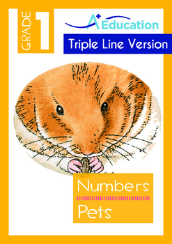 4-IN-1 BUNDLE- Numbers (Set 3) - Grade 1 (with 'Triple-Track Lines')