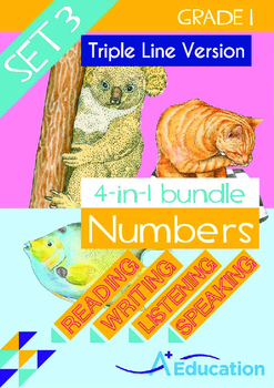 4-IN-1 BUNDLE- Numbers (Set 3) - Grade 1 (with 'Triple-Tra