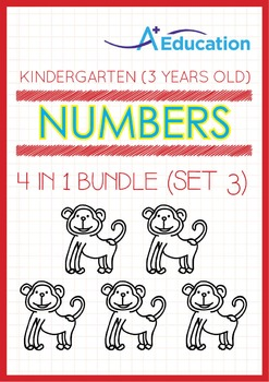 4-IN-1 BUNDLE - Numbers (Set 3) - Kindergarten, K1 (3 years old)