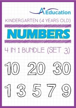 4-IN-1 BUNDLE - Numbers (Set 3) - Kindergarten, K2 (4 years old)