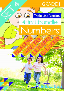 4-IN-1 BUNDLE- Numbers (Set 4) - Grade 1 (with 'Triple-Tra