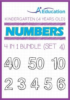 4-IN-1 BUNDLE - Numbers (Set 4) - Kindergarten, K2 (4 years old)