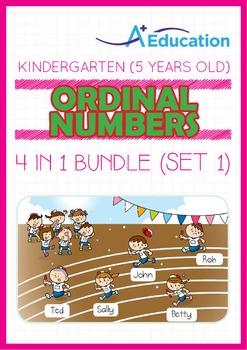 4-IN-1 BUNDLE - Ordinal Numbers (Set 1) - Kindergarten, K3 (5 years old)