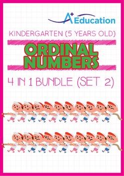 4-IN-1 BUNDLE - Ordinal Numbers (Set 2) - Kindergarten, K3 (5 years old)