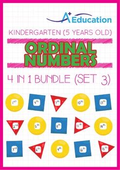 4-IN-1 BUNDLE - Ordinal Numbers (Set 3) - Kindergarten, K3 (5 years old)