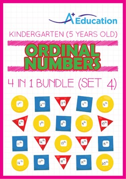 4-IN-1 BUNDLE - Ordinal Numbers (Set 4) - Kindergarten, K3 (5 years old)