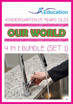 4-IN-1 BUNDLE - Our World (Set 1) - Kindergarten, K3 (5 years old)