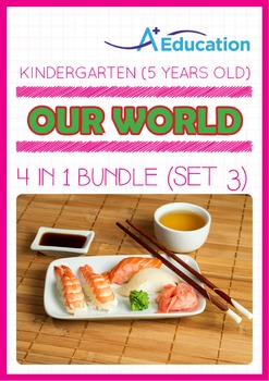 4-IN-1 BUNDLE - Our World (Set 3) - Kindergarten, K3 (5 years old)