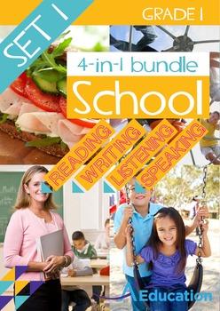 4-IN-1 BUNDLE- School (Set 1) - Grade 1