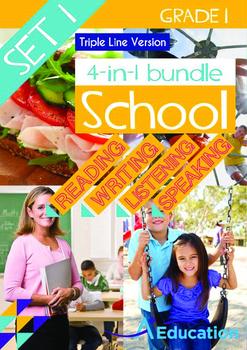 4-IN-1 BUNDLE - School (Set 1) Grade 1 ('Triple-Track Writ