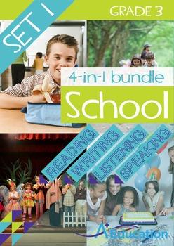 4-IN-1 BUNDLE- School (Set 1) – Grade 3