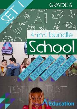 4-IN-1 BUNDLE- School (Set 1) – Grade 6