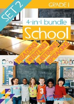 4-IN-1 BUNDLE- School (Set 2) - Grade 1