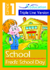 4-IN-1 BUNDLE - School (Set 2) Grade 1 ('Triple-Track Writing Lines')
