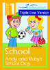 4-IN-1 BUNDLE - School (Set 3) Grade 1 ('Triple-Track Writing Lines')